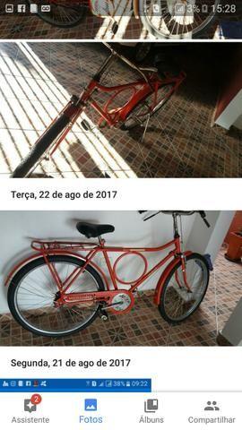 Vende uma bicicleta anos 90 toda restaurada