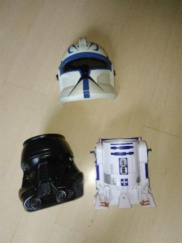 Mascara e pote para pipoca de Star Wars