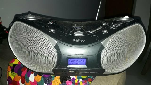 Som portátil Philco MP3 usb, cd, cartão de memória e radio am/fm