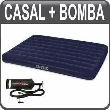 Colchão inflável Intex Casal com Bomba