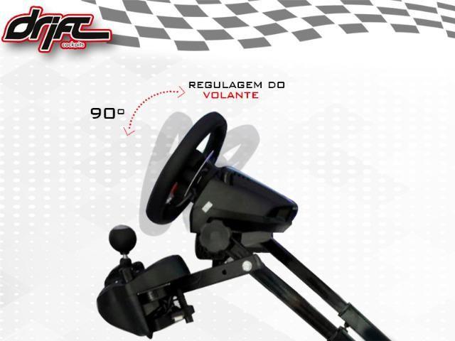 Drift Cockpit Simulador Suporte Para Volante G26 / G27 / G29 / G920 - Foto 4
