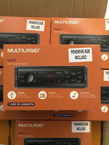 Multilaser POP BT Radio Bluetooth com pen drive 8GB Novo Garantia