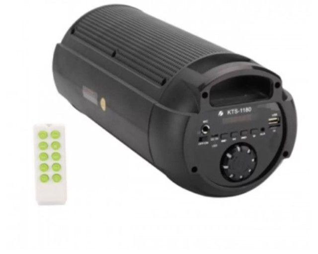 Caixa de Som Grande KTS-1180 Wireless / Bluetooth C/ Controle Fm Led Usb - Foto 3