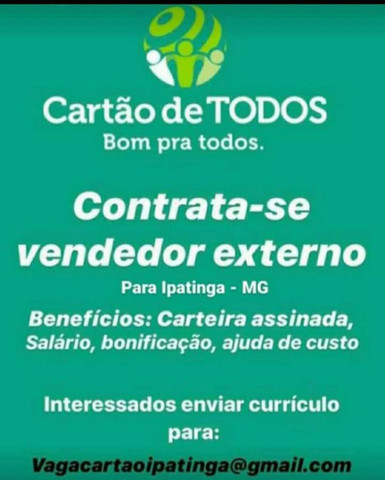 CONSULTOR DE VENDAS EXTERNAS