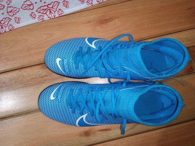 Chuteira Futsal Nike Mercurial Superfly 7 Academy IN - Azul+Branco<br><br>