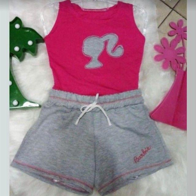 Um body branco e o conjunto da Barbie , promoção os 3 por 35,00 . - Foto 2