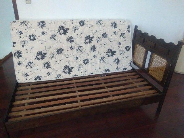 Cama solteiro madeira maciça (canela) - Foto 5