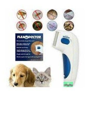 Escova Elétrica Anti Pulgas Carrapatos Piolho P Cães E Gato