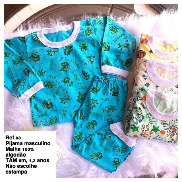 Pijama Infantil feminino/ masculino - Foto 2