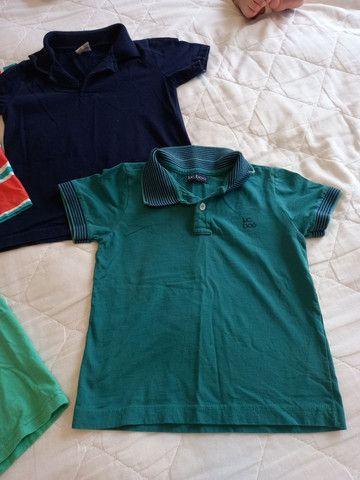 Camisas Polo Menino - Tamanho 4 - Foto 5