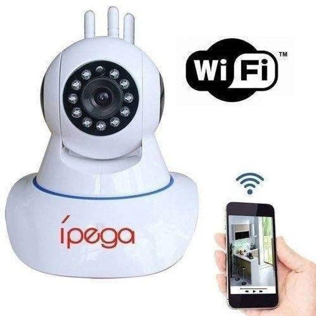 Câmeras wifi 3 antenas lançamento Ipega com cartão de memoria - Foto 4