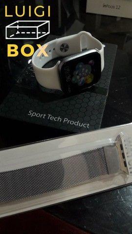 Relógio inteligente - Smartwatch x7- Prata  - Foto 4