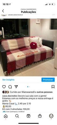 Kit manta + 3 almofadas com entrega grátis  - Foto 4