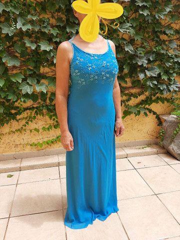 Vestido social azul