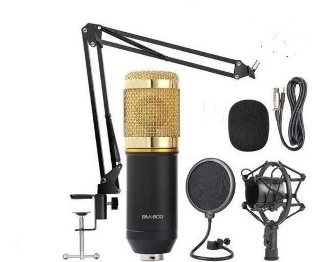 Microfone Condensador BM800 + Braço aranha  - Foto 2