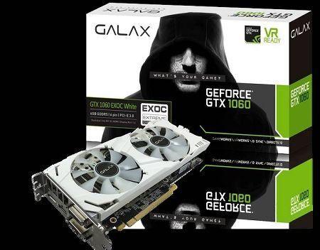 Placa de Video Galax Gtx 1060 6gb Exoc White GDDR5 192BIT - Parcelo em 12x via ML