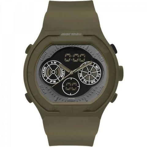 33a0365ccc9 Relógio Masculino Mormaii Acqua Psicopato Verde Militar ...