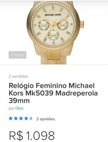 ea781c205e0 Relógio Michael kors Feminino - Bijouterias