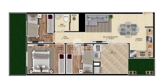 Apartamento garden com 3 quartos no são cristóvão - são josé dos pinhais/pr - Foto 2