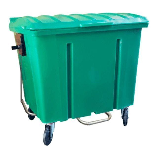 Container de Lixo Cap 1000 Litros Com Pedal e Rodas - Novo
