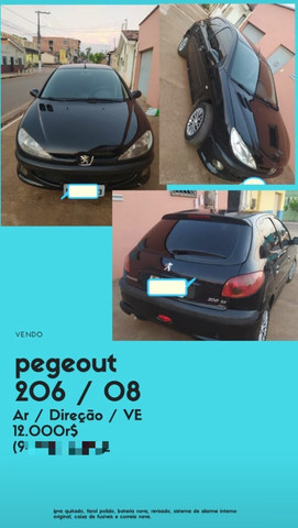 Vendo Peugeot 206/08