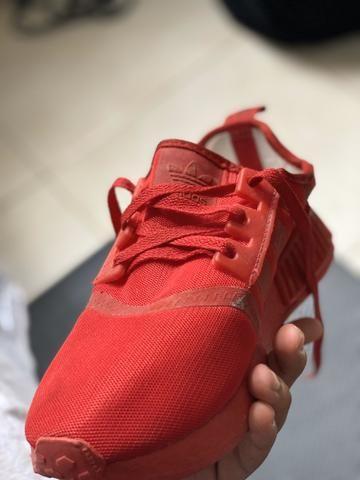 Tênis NMD todo vermelho,tamanho:39 - Foto 3