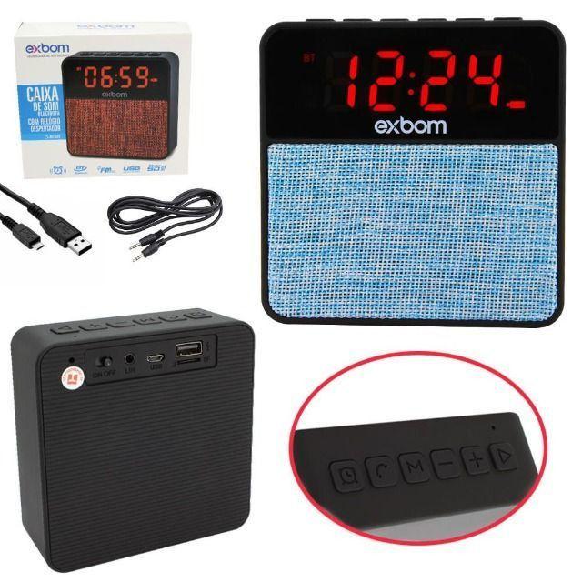 R$79,90 Radio Relógio Digital Bluetooth Usb Sd Mp3 Fm Despertador - Foto 4