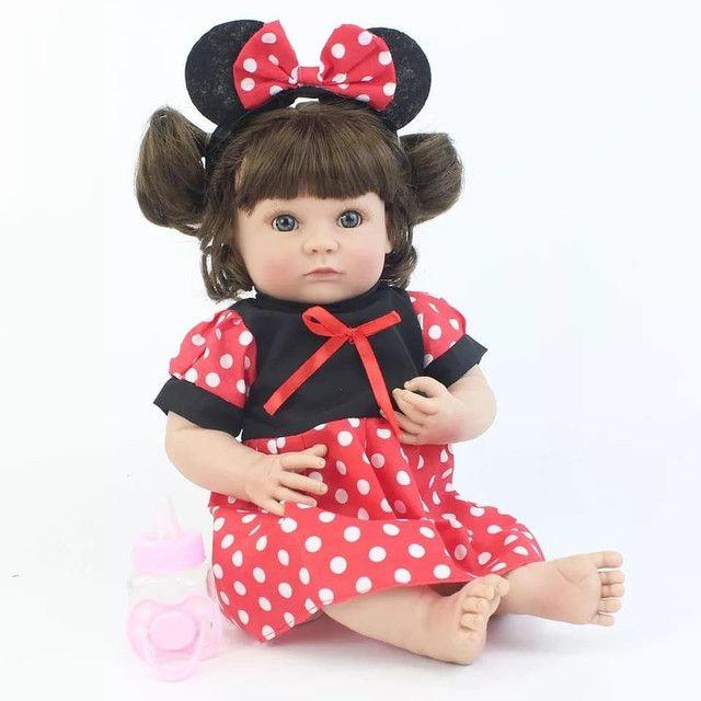 Boneca bebê Reborn Menina toda de Silicone a pronta entrega