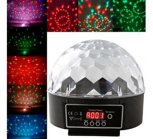 Bola Maluca Luz Rgb Dmx Efeitos de 6 Leds Coloridos 3 Watts - Foto 3