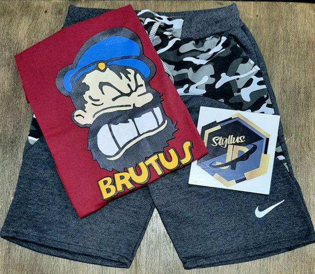 Kits camisetas e bermunda moletom  - Foto 3
