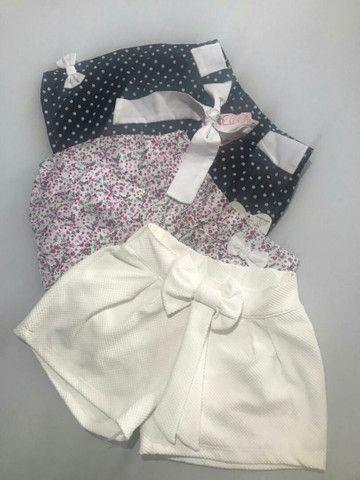 Kit 3 shorts Tam. 6
