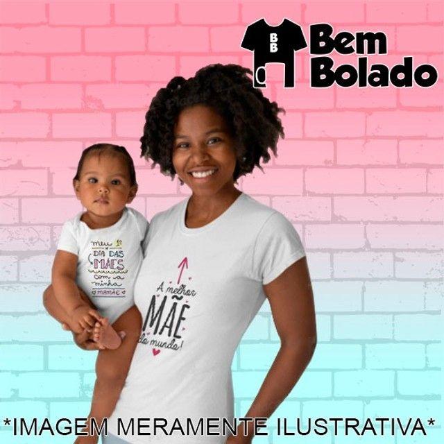 Conjunto Primeiro Dia das Mães body + camiseta - Foto 3