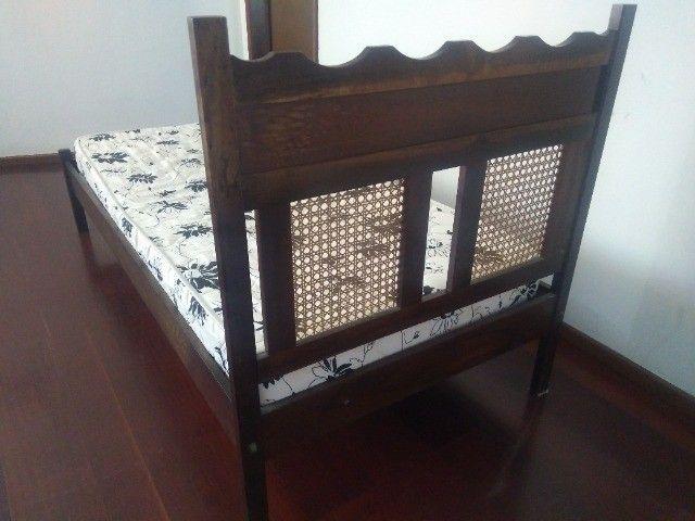 Cama solteiro madeira maciça (canela) - Foto 4
