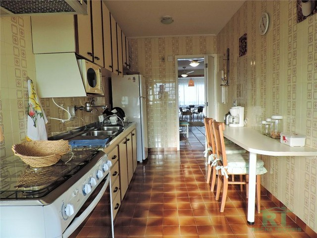 Apartamento na praia, Vista mar, 3 dormitórios, Lazer, 1 vaga, Astúrias, Guarujá. - Foto 17