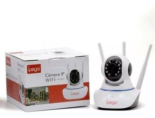 Câmeras wifi 3 antenas lançamento Ipega com cartão de memoria - Foto 3