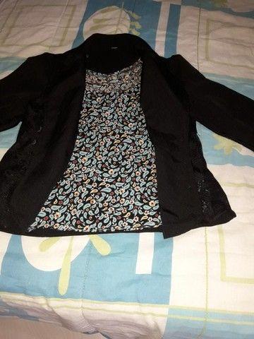 conj blusinha alcinhas+casaquinho renda p...chame pelo zap * - Foto 3