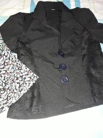 conj blusinha alcinhas+casaquinho renda p...chame pelo zap * - Foto 4