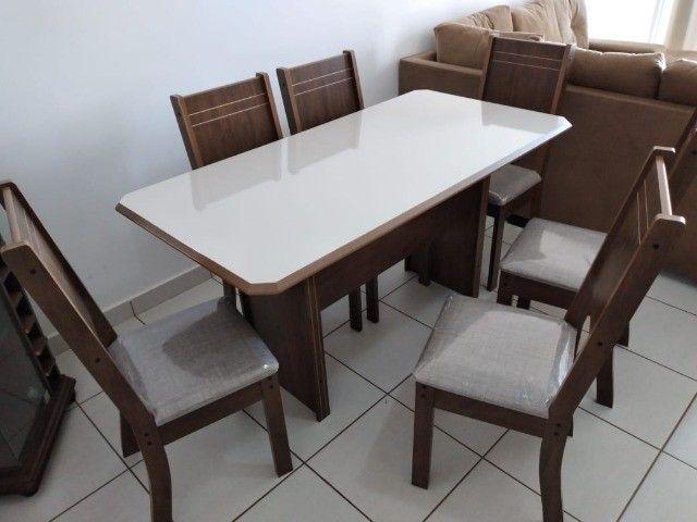 Mesa de Jantar New Charm 6 Cadeiras -- Entrega e montagem Na Hora