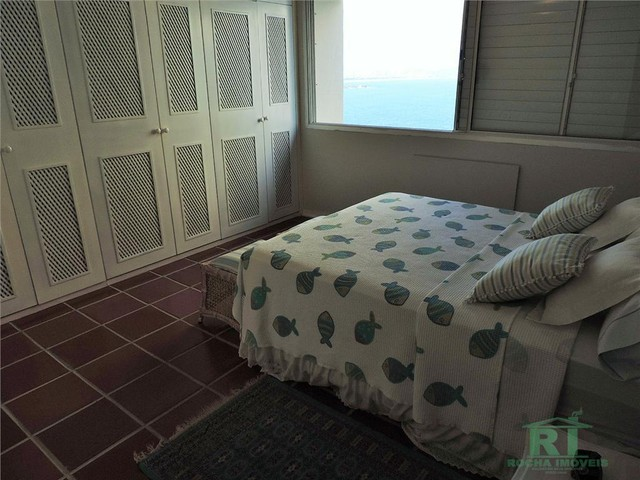 Apartamento na praia, Vista mar, 3 dormitórios, Lazer, 1 vaga, Astúrias, Guarujá. - Foto 10