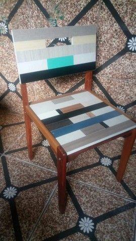 Vendo Cadeira - Mosaico - Frete Grátis - Foto 6