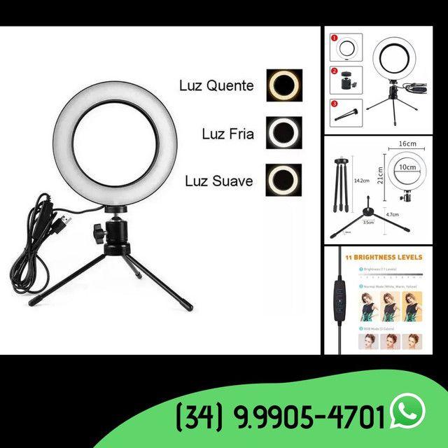 Ring Light Led de mesa 6 polegadas- 16 cm