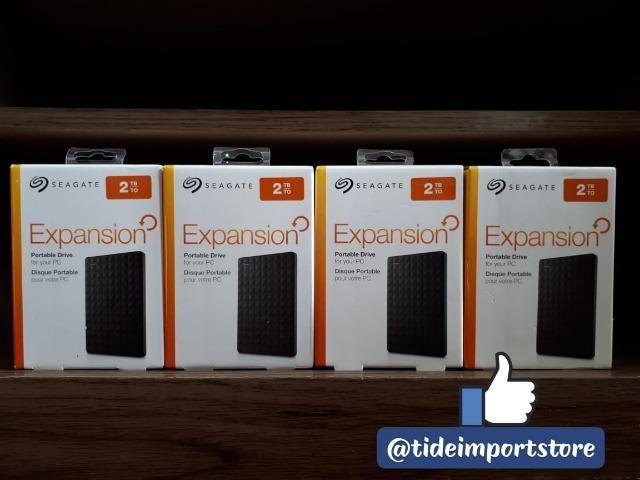 HD Externo Seagate 2TB, original, novo, lacrado na caixa