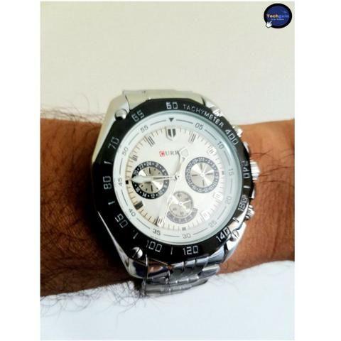 24bbdcb7a0b Relógio de aço inoxidável marca Curren resistente à Água ...