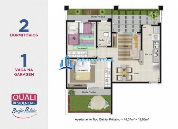 Apartamento 2 dormitórios com sacada e lazer completo MCMV - Apartamento em Lanç... - Foto 12