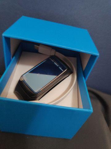 Smartwatch Fone e Relógio monitor cardíaco calorias 2 em 1 - Foto 3