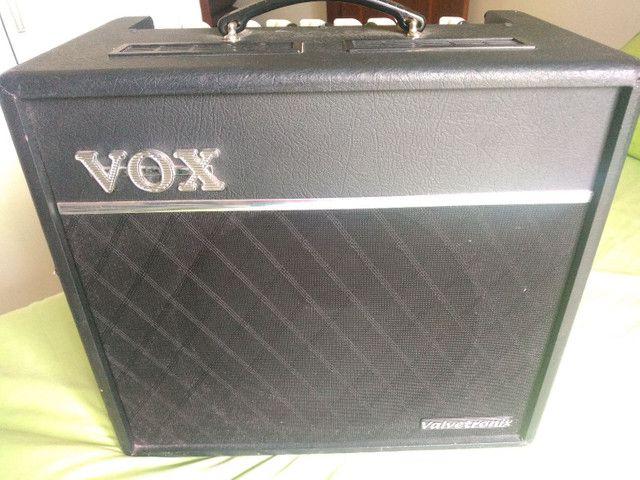 Baixei pra vender amplificador guitarra Vox vt80+ 120w de potência