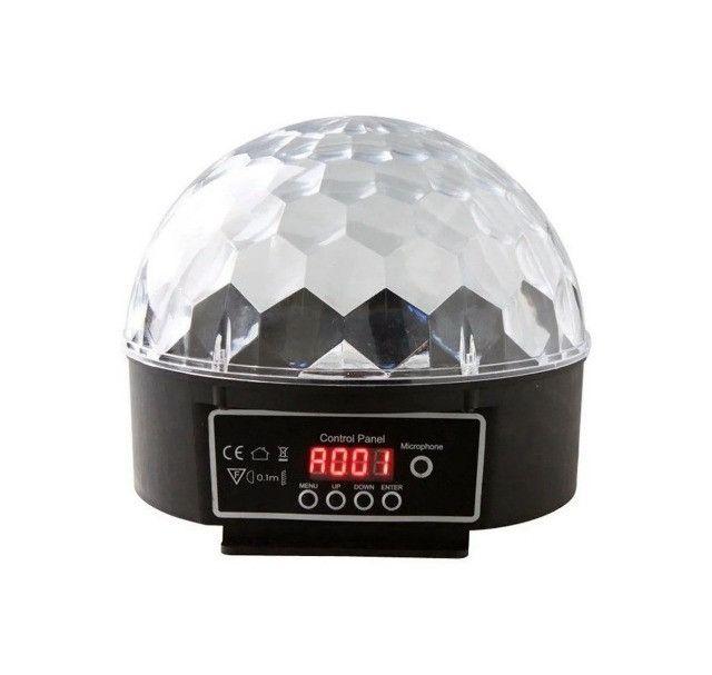 Bola Maluca Luz Rgb Dmx Efeitos de 6 Leds Coloridos 3 Watts
