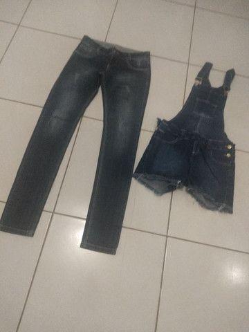 Calça e jardineira jeans - Foto 4