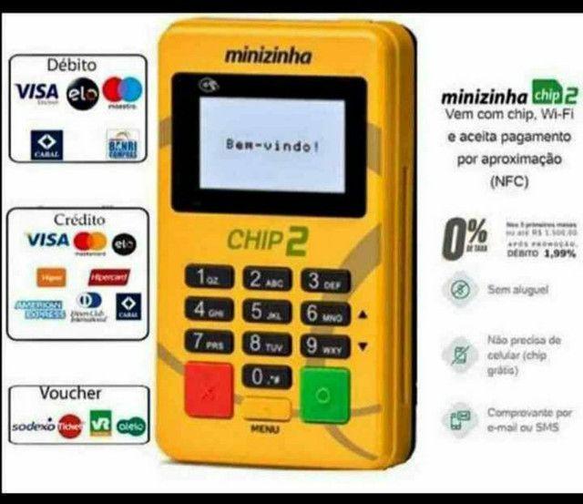 100 reais máquina de cartão