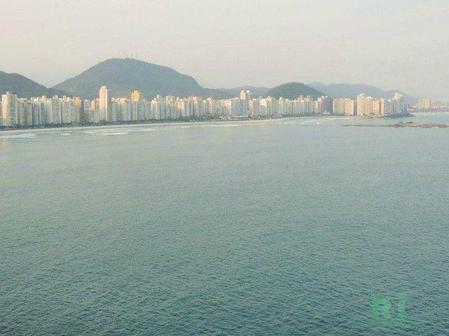 Apartamento na praia, Vista mar, 3 dormitórios, Lazer, 1 vaga, Astúrias, Guarujá.